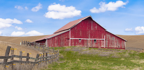 Rural barn panorama.