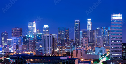 Spoed canvasdoek 2cm dik Los Angeles Los Angeles at night