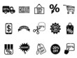 black discount icons set