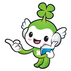 Lucky Fairy mascot the right hand guides and the left hand is ho