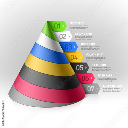 Layered cone design element