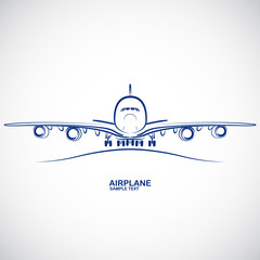 Airplane icon vector.illustration