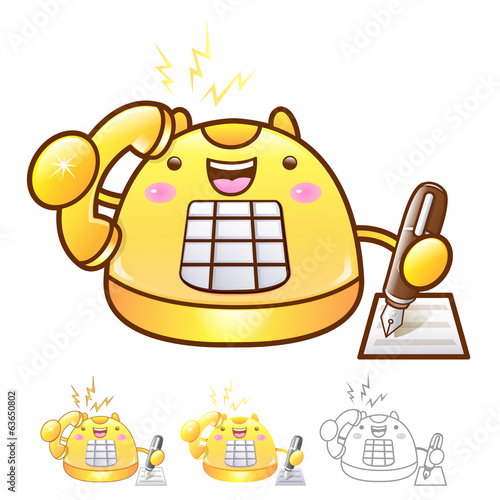 Different styles of Phone Mascot Sets. Appliances Items Characte