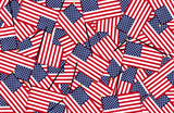 Fototapety Miniature American flags background