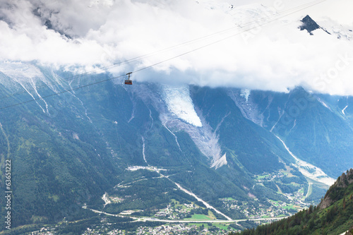 The view on Brevent Cable Car Chamonix