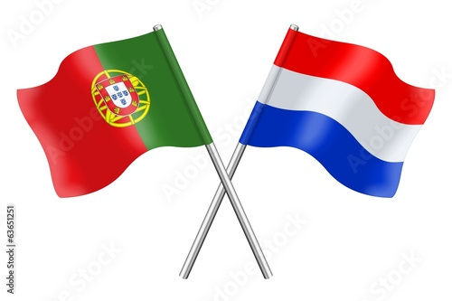Flags: Portugal and the Netherlands
