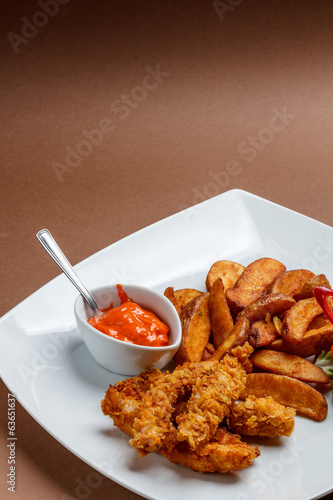 Fried crispy chicken