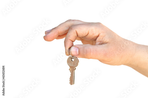 The key on palm