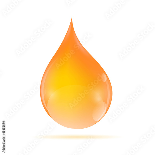Oil Orange Drop Vector Illustratio