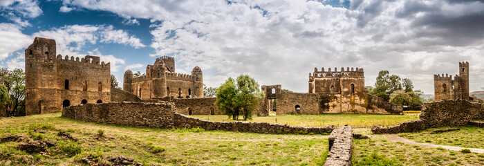 Panorama view at the Fasilides castle