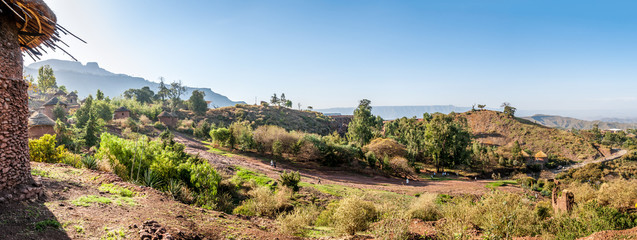 Panoramic view at the Lalibela village