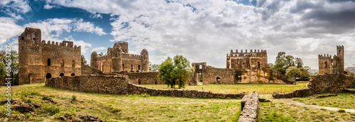 Staande foto Afrika Panorama view at the Fasilides castle