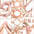 Collage of young people's hands