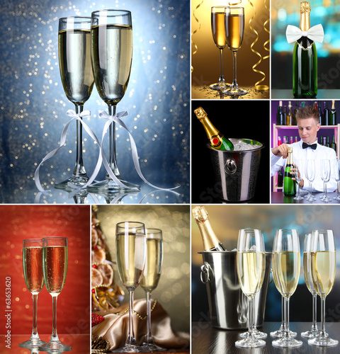 Champagne collage