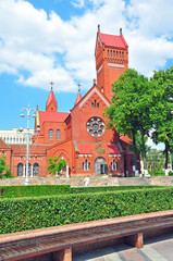 Red church of St Helena in Minsk