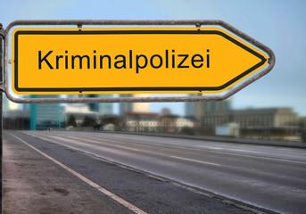 Strassenschild 14 - Kriminalpolizei
