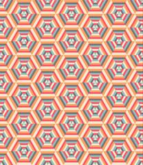 Retro geometric hexagon pattern