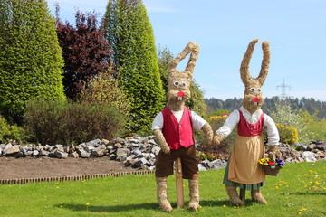 Osterhasenpärchen in der Steiermark