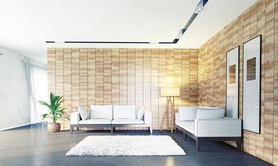 modern living room (3d concept)