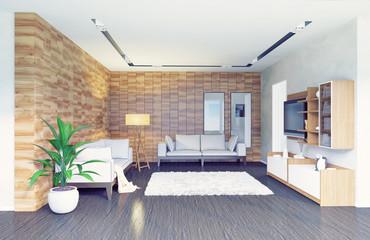 living room interior (3d concept)