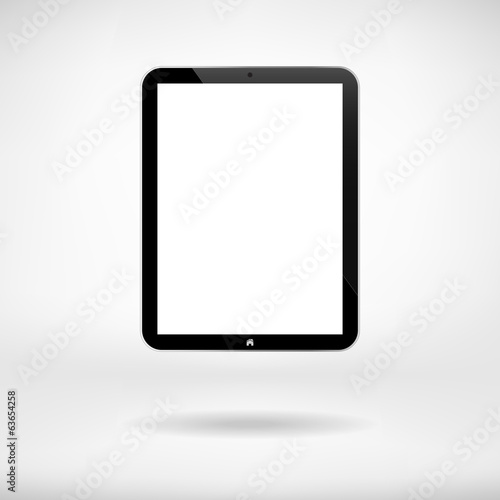 Black Business Tablet With Button In Interior