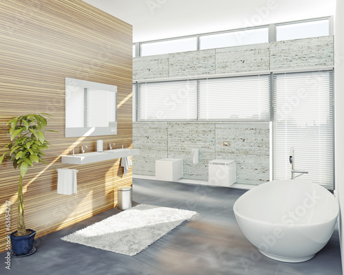 modern bathroom (3d concept)