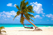 canvas print picture - Vacations and tourism concept: Caribbean Paradise.