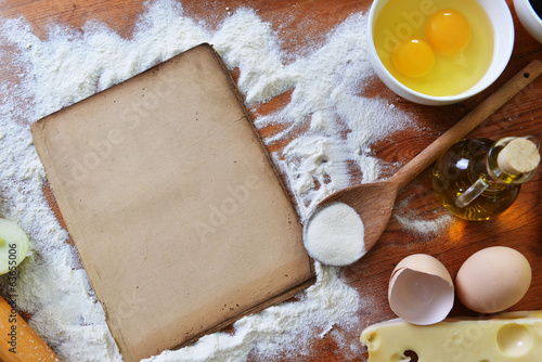 old sheet  and flour