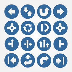Vector Set of Arrows Icons