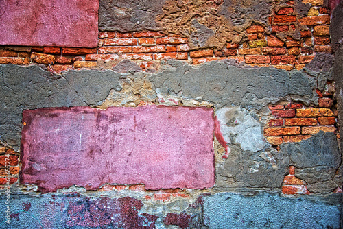 Colored grunge wall