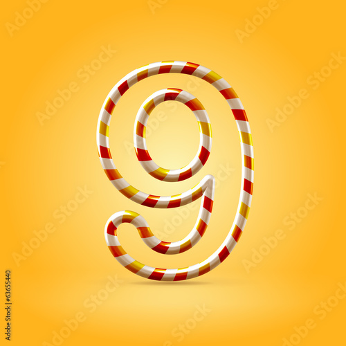 Candy summer hot orange outline font