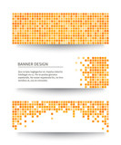 Fototapety Set of yellow pixel banners.