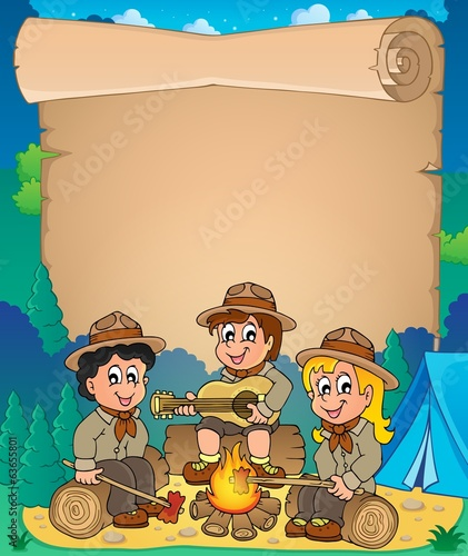 Children scouts theme parchment 1