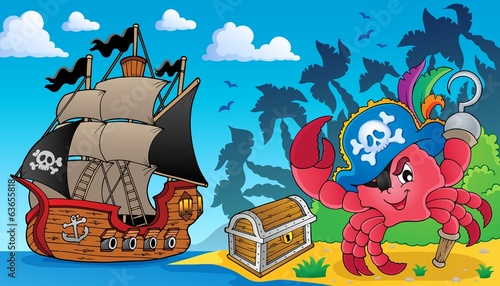 Pirate crab theme image 3
