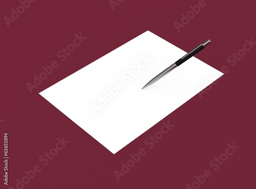 Papier Brief mit Stift