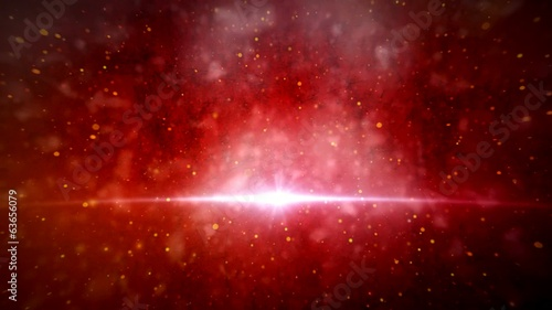 Galaxy Animated with red background #2