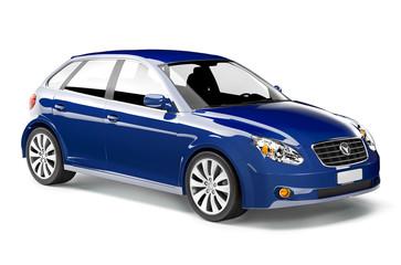 Blue 3D Car