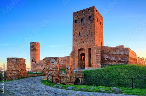 Medieval castle at dusk.HDR-high dynamic range