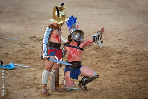Thracian gladiator begged for mercy