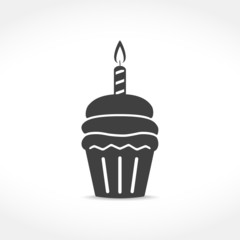 Birthday Cupcake Icon