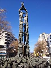 castells monument in Tarragona, Spain