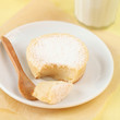 Broken Sweet Sugar Milk Cake on a white plate