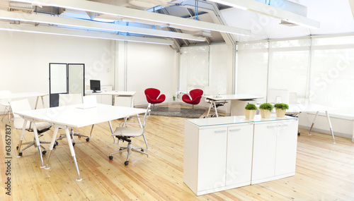Office with White Furnitures
