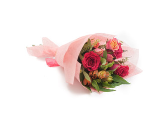 Sweet colorful small bouquet pink roses