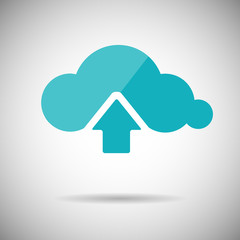 Upload to Cloud Icon Flat design