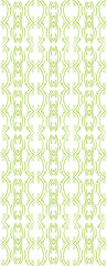 abstract sketch green seamless pattern