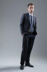 Elegant businessman standing