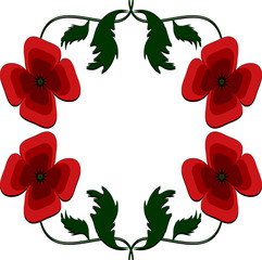 Background- frame with poppies.