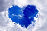 Heart in the blue sky. poster