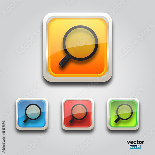 Web search icon square
